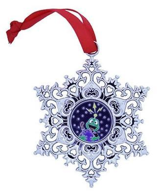 Snowflake Ornament Geocoin - Earth - 1
