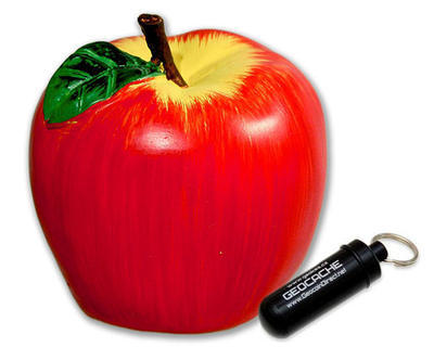 Geocache jablko - komplet včetně microcache - 1