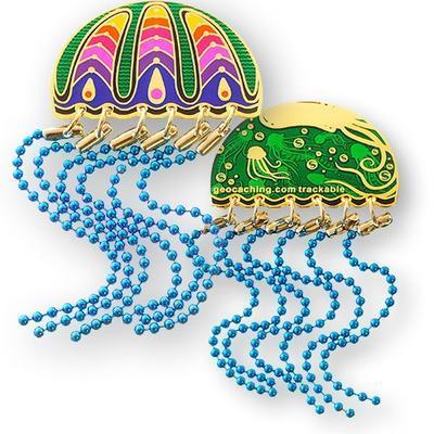 Jellyfish Geocoin - Blue