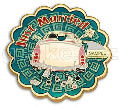Just Married svatební geocoin - Gold - 1