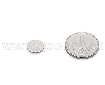 Magnet neodymový kotouč 10x1 mm