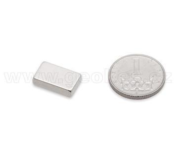 Magnet neodymový hranol 15x10x4 mm