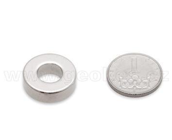 Magnet neodymový prstenec 19x6 mm