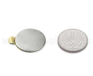 Magnet neodymový kotouč 20x1 mm samolepicí