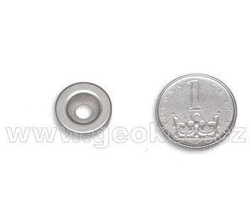 Magnet neodymový kruhový 14 mm s dírou pro šroub