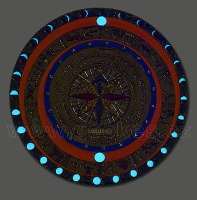Mapamundi XXL Geocoin - Dark Night + dárkové balení - 1