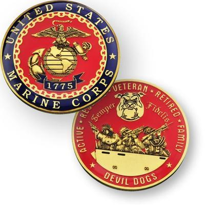 Marine Corps Geocoin