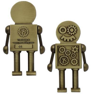 Steampunk Robot Geocoin - MEGA - 1