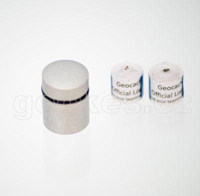 Nano cache stříbrná - komplet + 2 x log