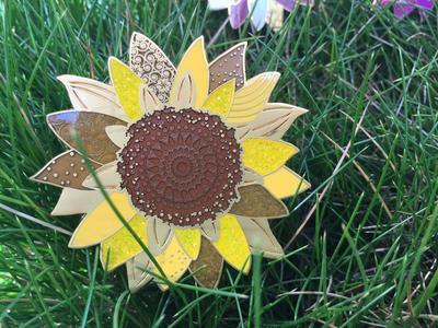 Sunflower Geocoin - Nature's Gold LE