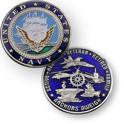 Navy Geocoin