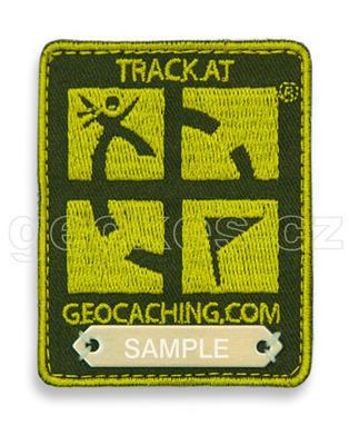Trackovací nášivka s logem Geocaching - zelená