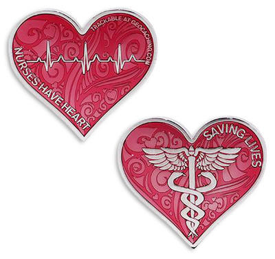 Nurses Have Heart Geocoin