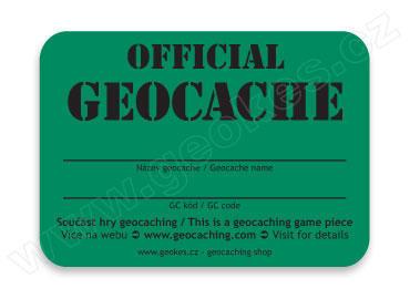 Samolepka Official Geocache - 1