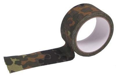 Lepicí maskovací textilní páska 10 m - camo