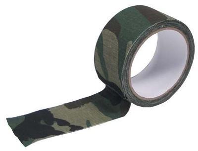 Lepicí maskovací textilní páska 10 m - woodland