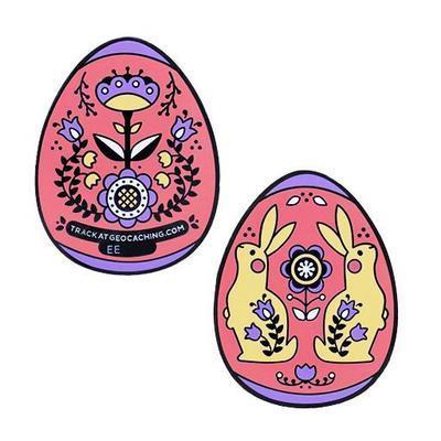 Velikonoční vajíčko geocoin - červené