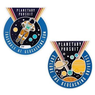 Planetary Pursuit Geocoin + travel tag - 1