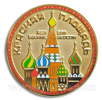 Red Square Moscow Russia Geocoin - gold - 1