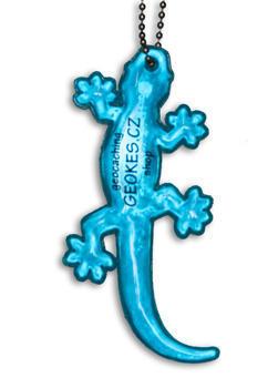 Reflexní přívěsek ještěrka, Modrá