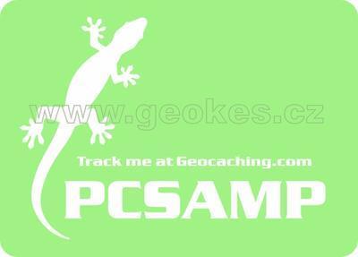 Velká trackable samolepka - ještěrka bílá