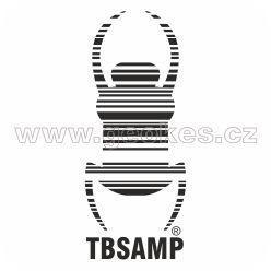 Velká Travel Bug - samolepka černá 28 cm