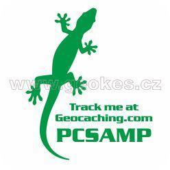 Trackable samolepka - ještěrka zelená
