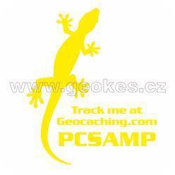 Trackable samolepka - ještěrka žlutá