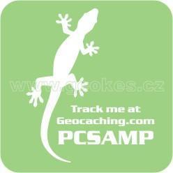 Trackable samolepka - ještěrka bílá