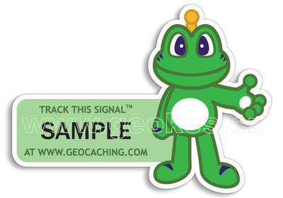 Signal the Frog - trackovatelná samolepka