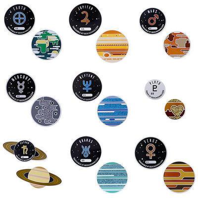 Solar System Geocoins - kompletní sada 9 ks