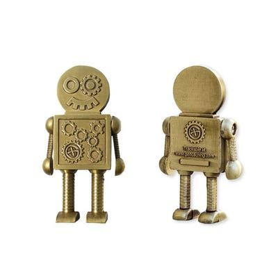 Steampunk Robot Geocoin - Antique Bronze - 1