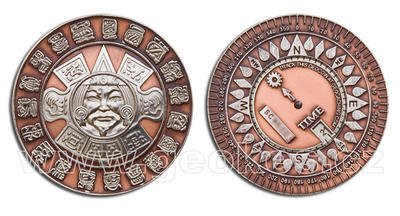 Suncompass Geocoin Antique Copper / Nickel