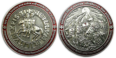 Templar MMXI Geocoin (II) Antique Silver