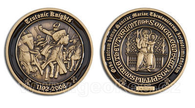 Teutonic Knights Geocoin - Antique Gold
