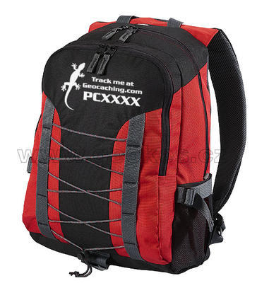 Trackable backpak Gecko - red - 1