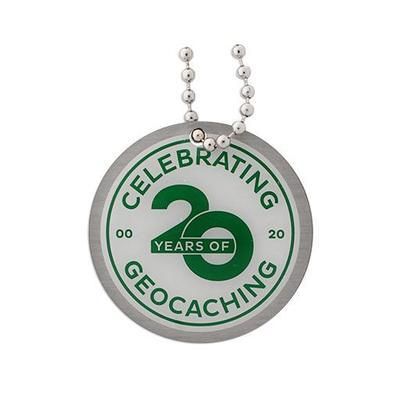 Celebrating 20 Years of Geocaching Geocoin and Trackable Tag Set - 2