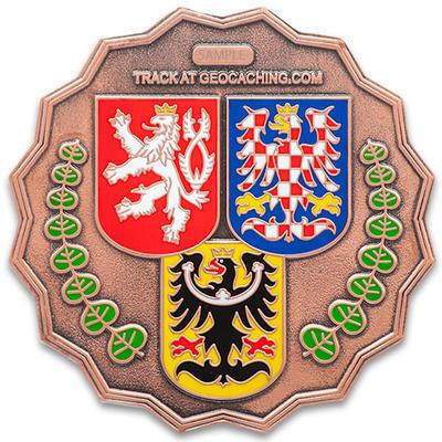 """Geocoin """"20 Let Geocachingu v ČR"""" - LE Antique Copper - 2"""