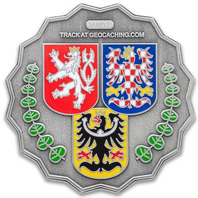 "Geocoin ""20 Let Geocachingu v ČR"" - Antique Silver - 2"