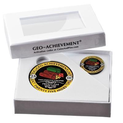 25 Hides Geocoin + odznak + krabička - 2