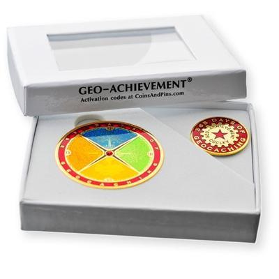 365 Days Geocoin + odznak + krabička - 2