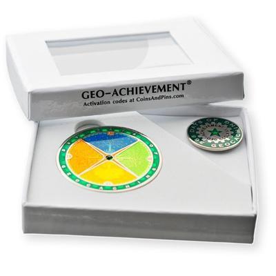 366 Days Geocoin + odznak + krabička - 2