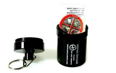 Small geocache - hliníkové vodotěsné pouzdro černé - 2