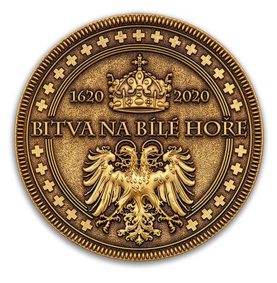 """Geocoin """"Bitva na Bílé hoře 1620-2020"""" - Antique Bronze - 2"""