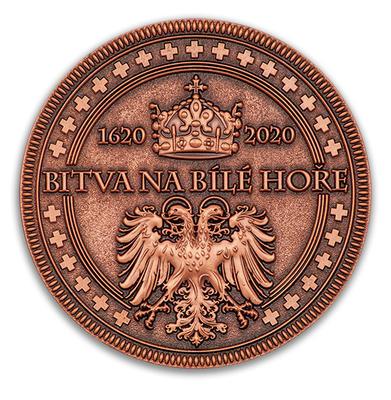 """Geocoin """"Bitva na Bílé hoře 1620-2020"""" - Antique Copper - 2"""