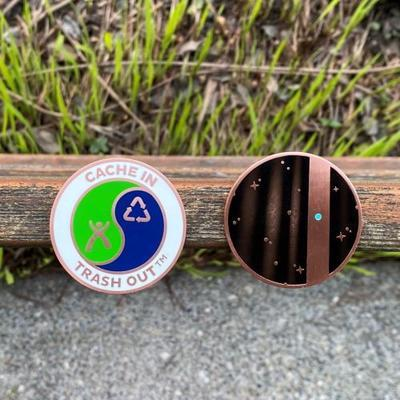 CITO Geocoin 2020 - Blue dot - 2