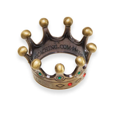 Countess' Crown Geocoin - Antique Gold s kameny - 2