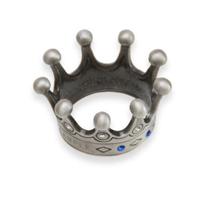 Countess' Crown Geocoin - Antique Silver s kameny - 2