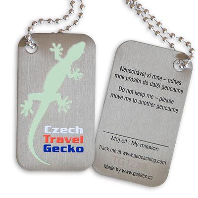 Czech Travel Gecko tag - svítící - 2