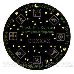 Darkest Dreams Geocoin - Green Night - 2